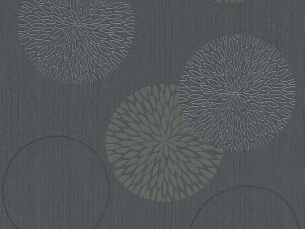 Wallpaper grey taupe flower Spot AS Creation 93791-1