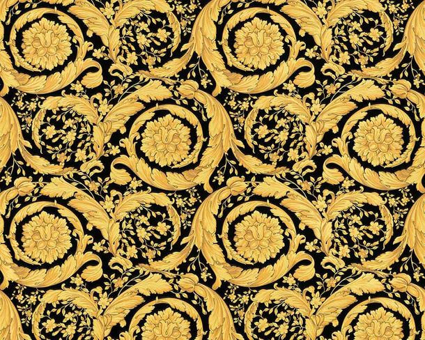 Tapete Versace Home Blumen gold Metallic 93583-4