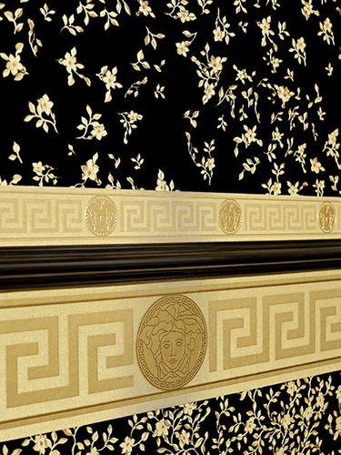Vliestapete Versace Home Ranken schwarz gold 93584-4 online kaufen