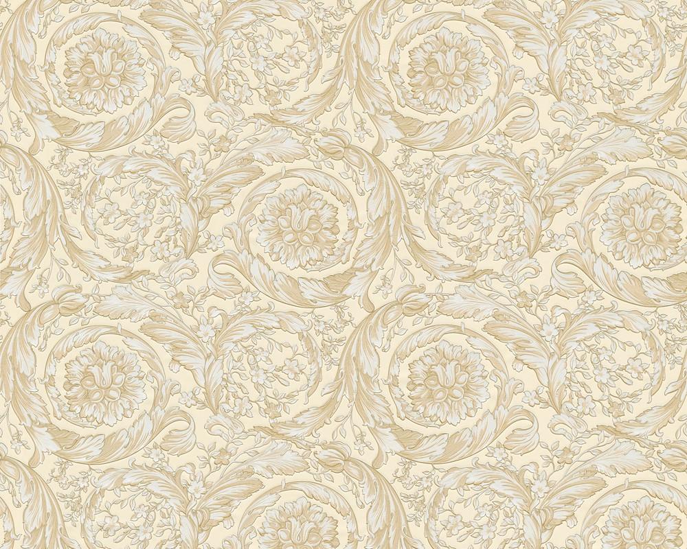 Wallpaper versace home ornaments baroque gold cream 93583 1 for Wallpaper versace home