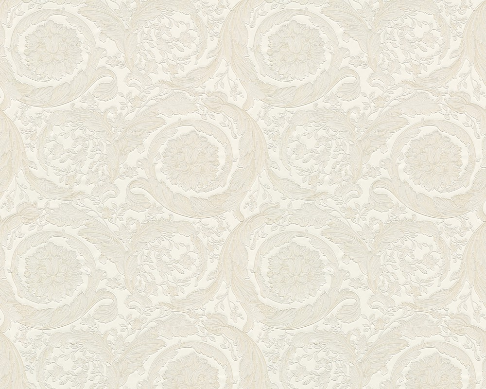 wallpaper versace home flower floral cream metallic 93583 2. Black Bedroom Furniture Sets. Home Design Ideas