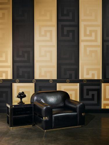 Wallpaper border Versace Home Medusa black metallic 93522-4 online kaufen