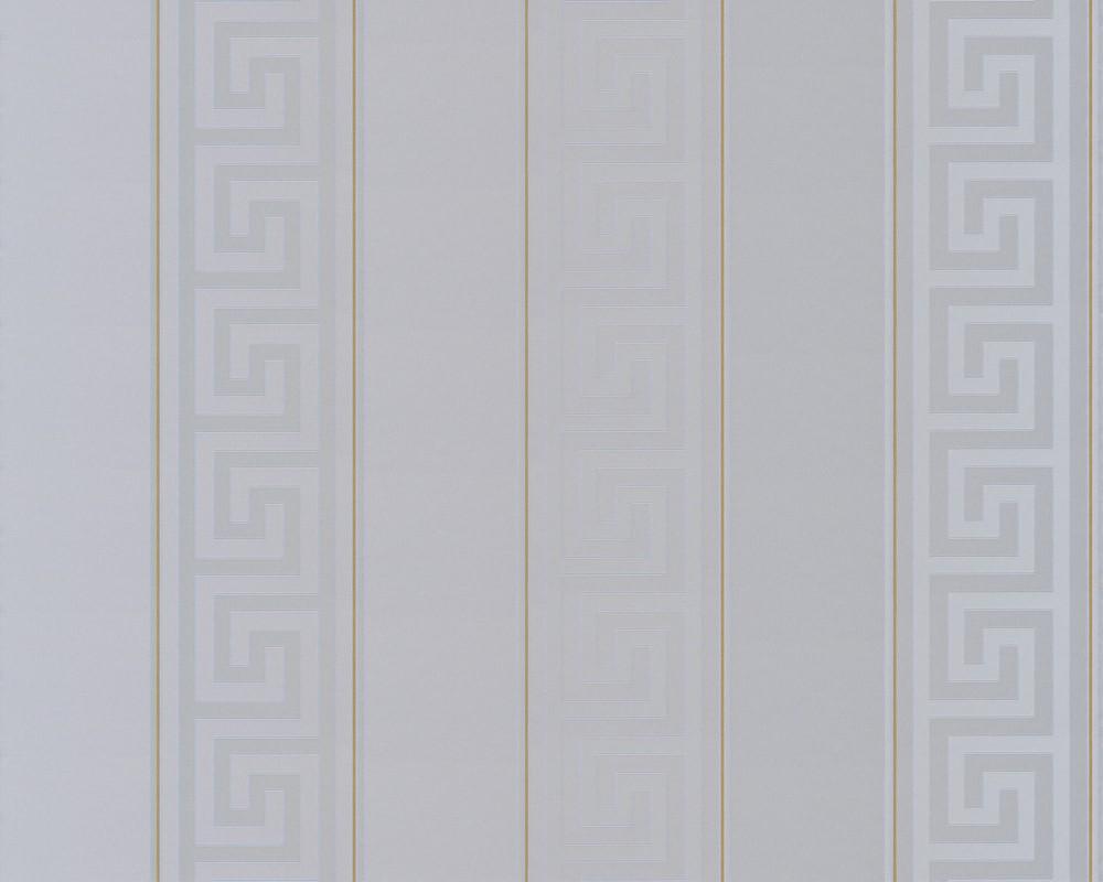 Tapete versace home streifen grau gold metallic 93524 5 for Tapete gold grau