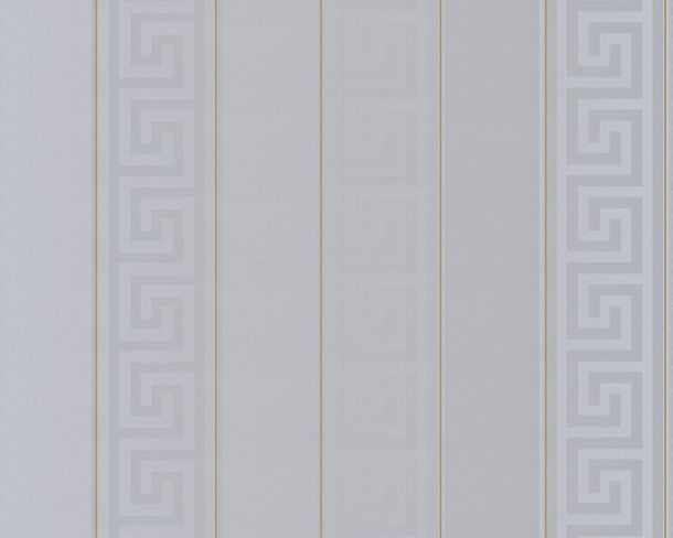 Wallpaper Versace Home stripes grey gold metallic 93524-5