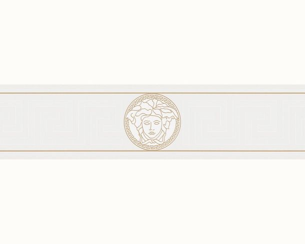 Wallpaper border Versace Home Medusa white metallic 93522-3