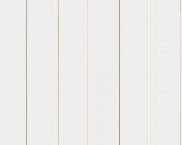 Tapete Versace Streifen Griechisch weiß gold 93524-1