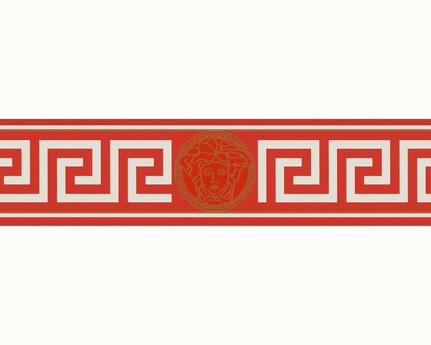 Wallpaper Border Versace Home Medusa red white gold 93522-1