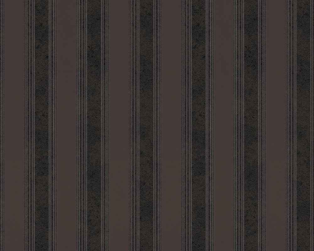 Wallpaper Versace Home Stripes Black Brown 93589 4