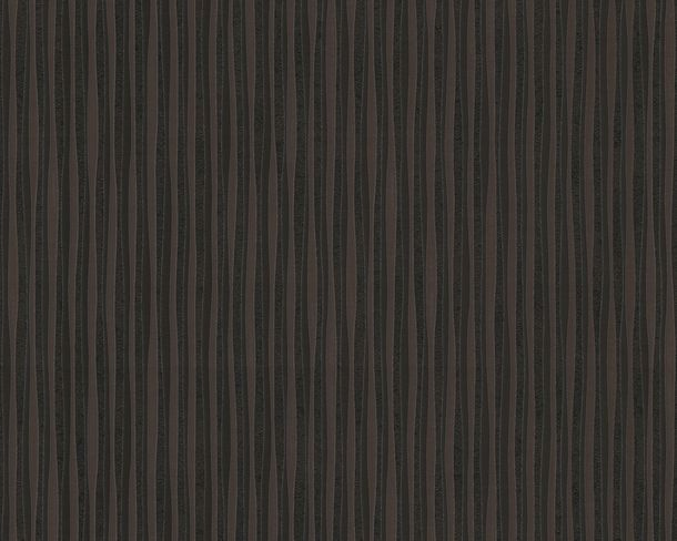 Wallpaper Versace Home stripes modern black brown 93590-4
