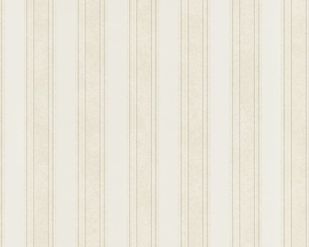 Wallpaper Versace Home stripes white metallic 93589-1