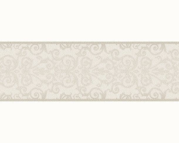Wallpaper Border Versace Home baroque white grey 93547-1