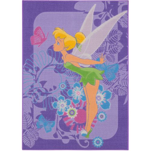 Carpet kids carpet Tinkerbell Tropical carpet play carpet 95x133 cm / 37.4 '' x 52.36 '' purple online kaufen
