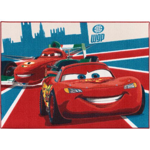 Carpet kids carpet Cars 2 McQueen & Francesco carpet 95x133 cm / 37.4 '' x 52.36 '' red blue
