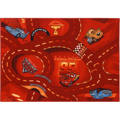 Carpet streets kids Cars 2 95x133cm / 37.4''x 52.36'' red