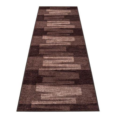 Runner Rug Carpet Via Veneto design brown 80cm Width