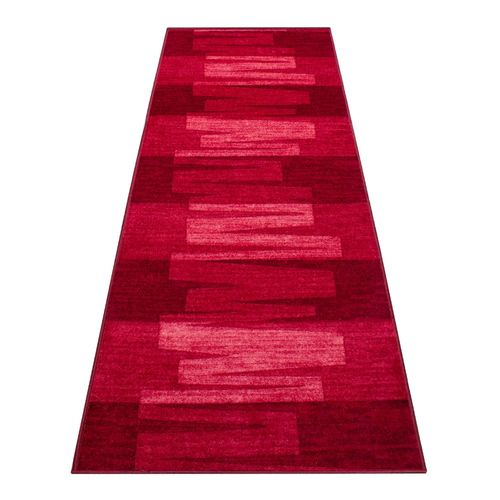 Runner Rug Carpet Via Veneto design red 100cm Width