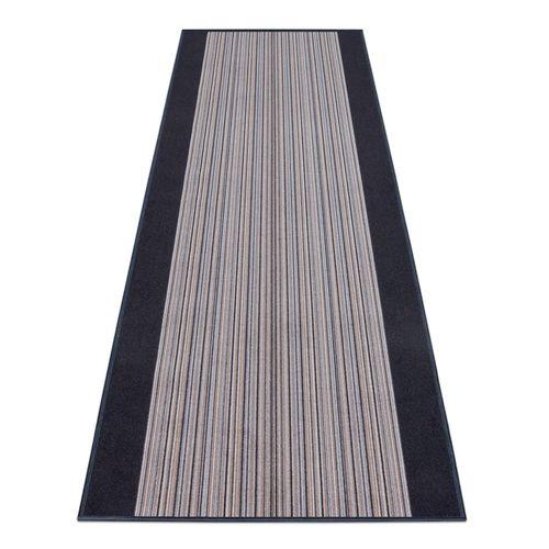 Runner Rug Carpet Carnaby stripes grey 80cm Width
