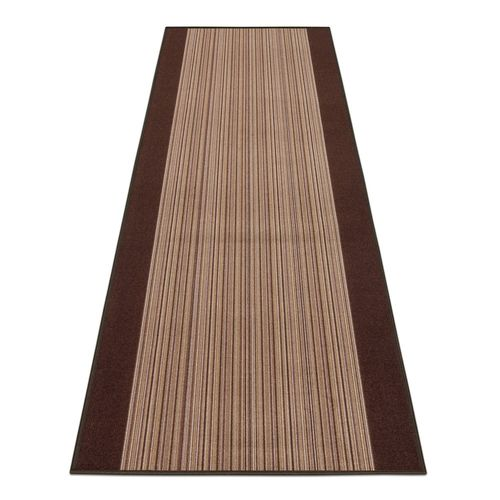 Runner Rug Carpet Carnaby stripes brown 80cm Width
