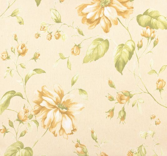 Marburg non-woven wallpaper 53739 flowers cream green