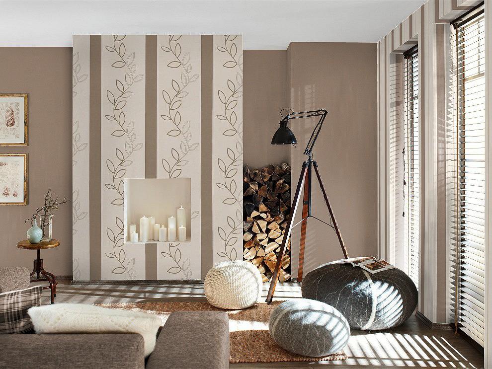 tapete rasch endless joy 723694 streifen creme braun. Black Bedroom Furniture Sets. Home Design Ideas