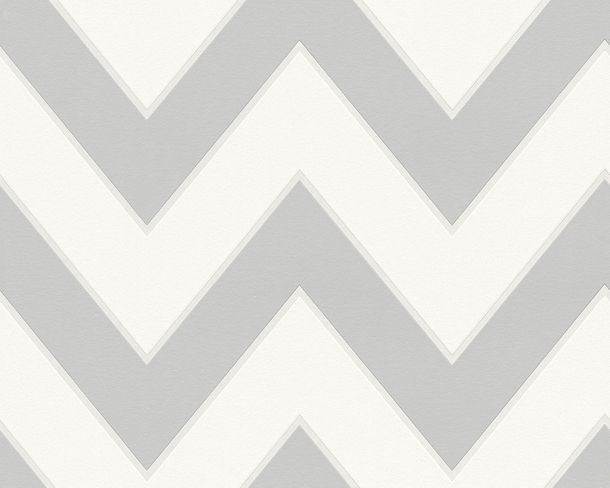 Wallpaper Michael Michalsky Design graphic white grey 93943-5
