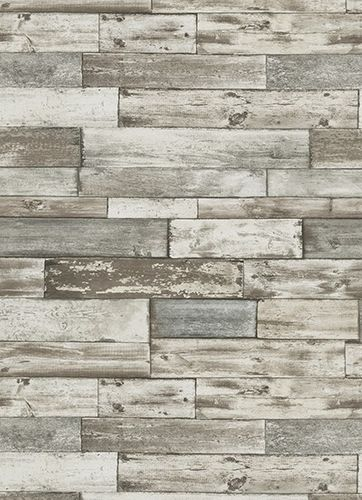 Wallpaper Authentic Erismann paper wallpaper 7319-10 731910 wooden optic brown grey online kaufen