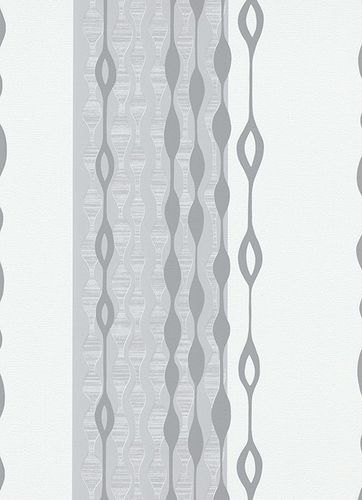 Wallpaper Edito Erismann non-woven wallpaper 6776-10 677610 retro stripes white grey online kaufen