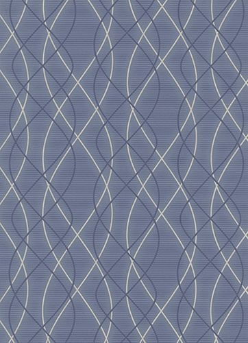non-woven wallpaper Erismann Glossy 6832-08 683208 waves stripes blue dark blue cream glitter online kaufen