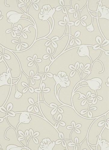 Vliestapete Floral Glitzer cremebeige weiß 6831-14 online kaufen