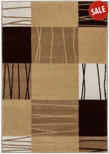 Teppich Milano Webteppich Modern 80 x 150 cm braun gelb online kaufen
