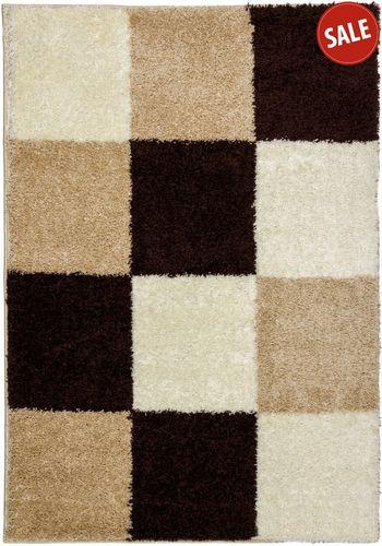 Carpet Shaggy high pile carpet 160 x 230 cm brown cream online kaufen