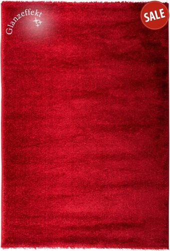 Luxus Shaggy Teppich Glitzer Hochflor Zigana rot 160x230cm online kaufen