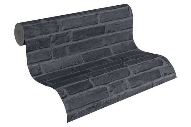wallpaper stone clincer wall black as creation 94283 3. Black Bedroom Furniture Sets. Home Design Ideas