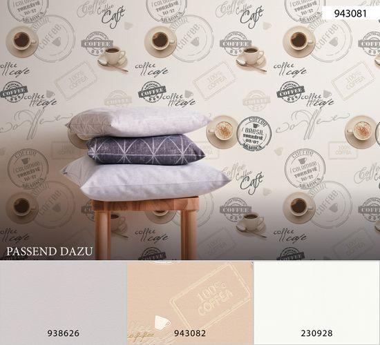 Vinyl Wallpaper Kitchen Vintage Coffee white grey 94308-1 online kaufen