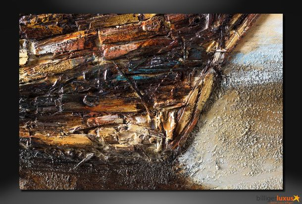 Original oil painting 101x101 cm wall picture boat online kaufen
