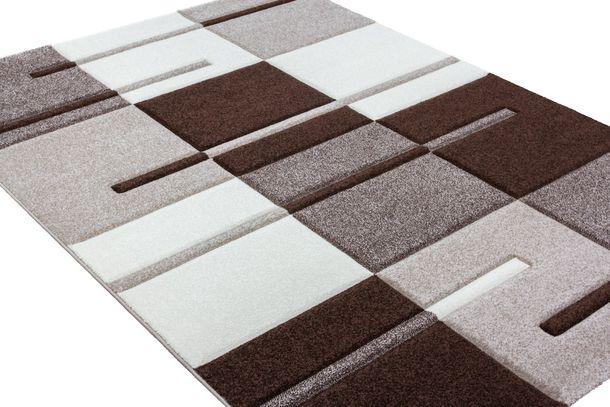 Teppich Barcelona Designerteppich Modern beige braun 120 x 170 cm online kaufen