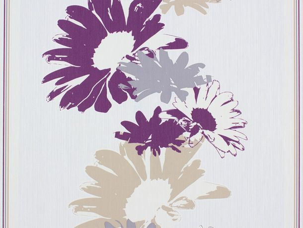 wallpaper Rasch Perfecto non-woven wallpaper 496536 flower cream beige grey magenta