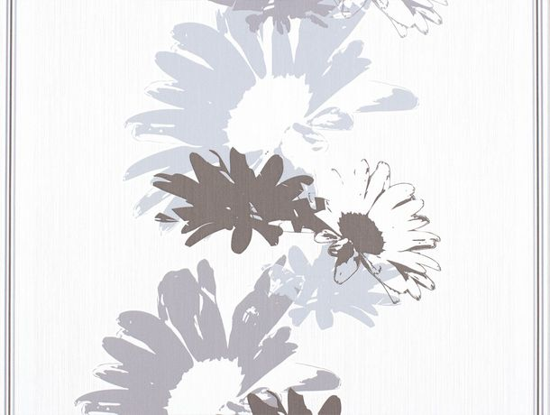 wallpaper Rasch Perfecto non-woven wallpaper 496529 flower cream brown blue-grey