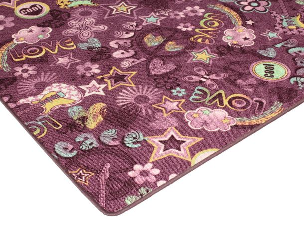 Carpet Youth Rug Hippie Font purple online kaufen