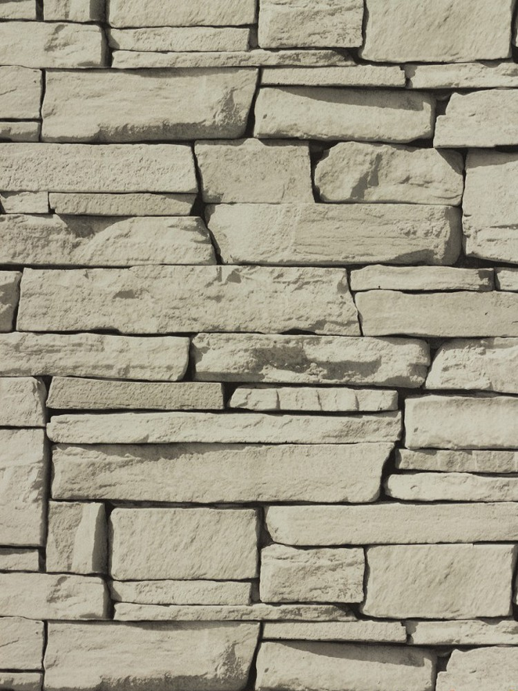 Non woven wallpaper 827087 stone optics light grey for Tapete stein