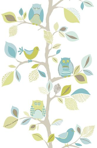 Pop Up Panel adhesive Dekopanel Owls blue online kaufen