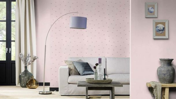 Vliestapete Rasch Uni Textil-Optik hellrosa 445220 online kaufen