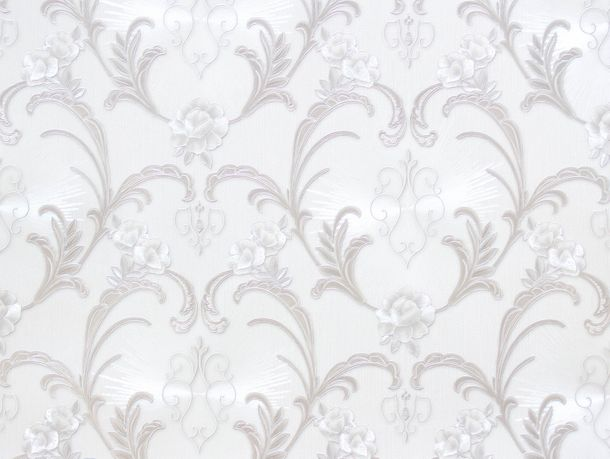 A.S. Hermitage 9 non-woven wallpaper 94338-5 943385 baroque white grey metallic