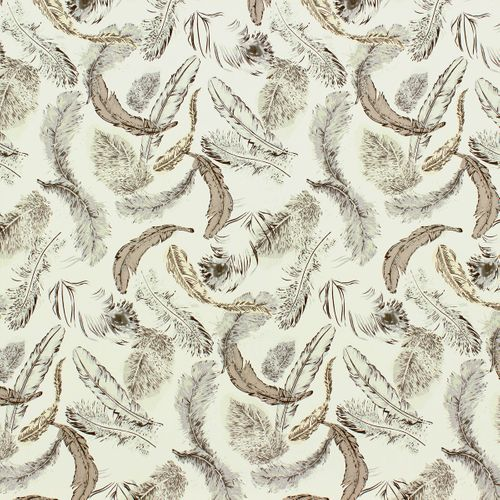 Wallpaper bb Home Passion 712940 feathers white grey brown