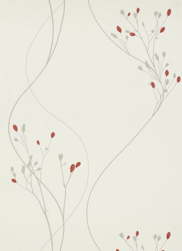 Erismann Myself non-woven wallpaper 6861-06 686106 floral white red