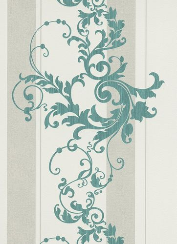 Erismann Myself non-woven wallpaper 6858-36 685836 stripes baroque cream turquoise