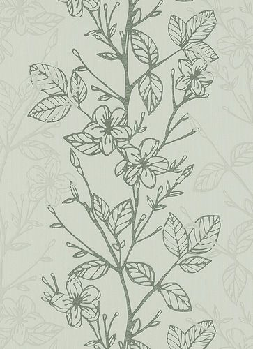 wallpaper Ambiance Erismann non-woven wallpaper 5910-10 591010 floral grey metallic online kaufen