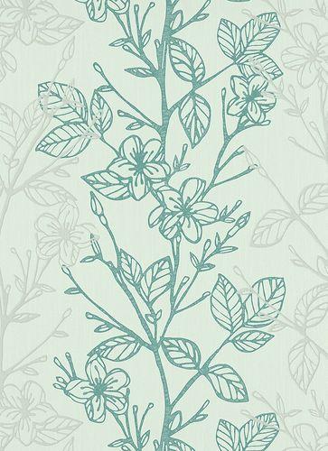 Vliestapete türkis Floral Ambiance Erismann 5910-19 online kaufen
