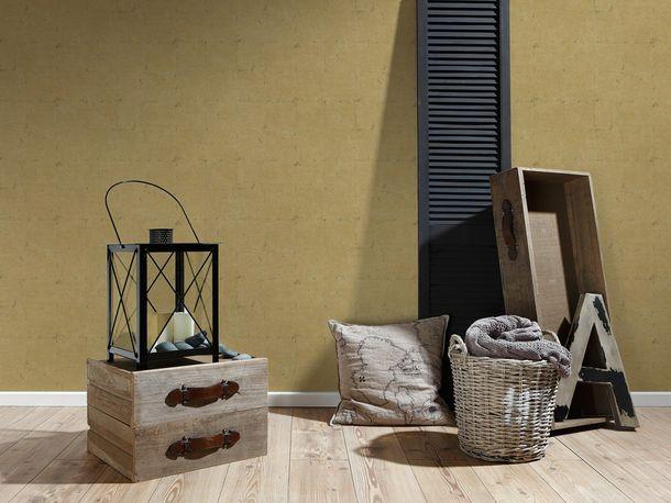 Wallpaper Daniel Hechter plaster tiles gold 93992-2 online kaufen