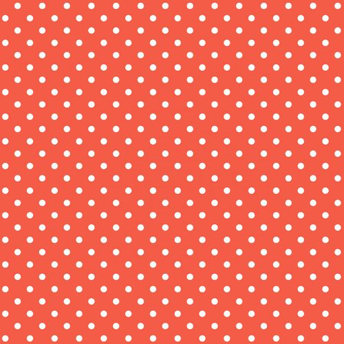 wallpaper non-woven dots red white Everybody Bonjour 138101